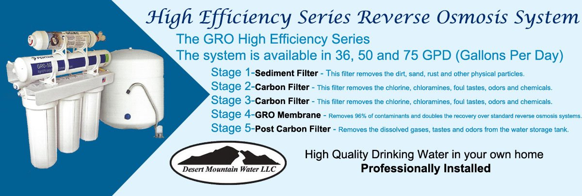 High Efficiency Series Reverse Osmosis System