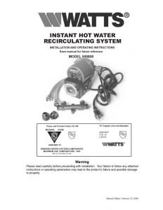thumbnail of 500800-hot-water-recirculating-kit